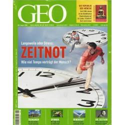 Geo Nr. 8 / August 2005 - Zeitnot
