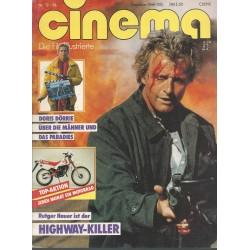 CINEMA 12/86 Dezember 1986 - Rutger Hauer ist der Highway Killer