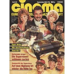CINEMA 9/84 September 1984 - Wer wird Deutschlands Bond Girl?