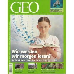 Geo Nr. 8 / August 2009 - Wie werden wir morgen lesen?