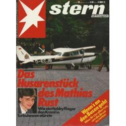 stern Heft Nr.24 / 3 Juni 1987 - Das Husarenstück des Mathias Rust