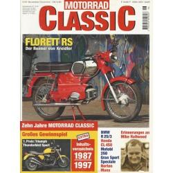 Motorrad Classic 6/97 - November/Dezember 1997 - Florett RS