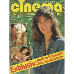 CINEMA 11/81 November 1981 - Exklusiv: Desiree Nosbusch nackt