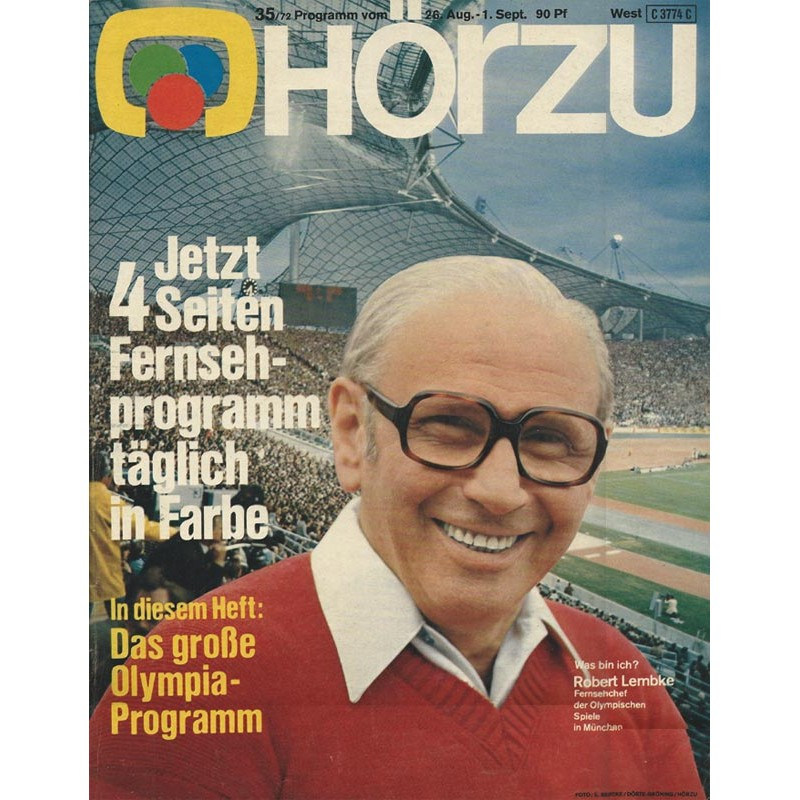 HÖRZU 35 / 28 Aug. bis 1 Sep. 1972 - Das große Olympia-Programm