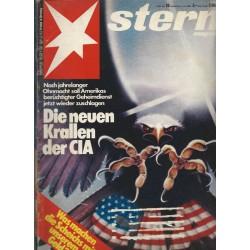 stern Heft Nr.28 / 3 Juli 1980 - Die neuen Krallen der CIA