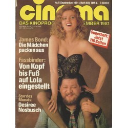 CINEMA 9/81 September 1981 - Fassbinder