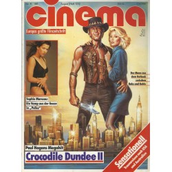 CINEMA 8/88 August 1988 - Crocodile Dundee 2