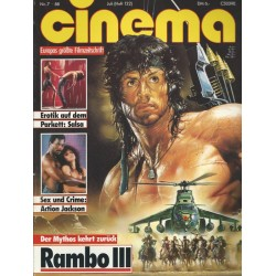 CINEMA 7/88 Juli 1988 - Rambo 3